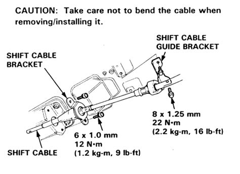 service manual how to remove cable from a bracket 1992 eagle premier repair guides parking