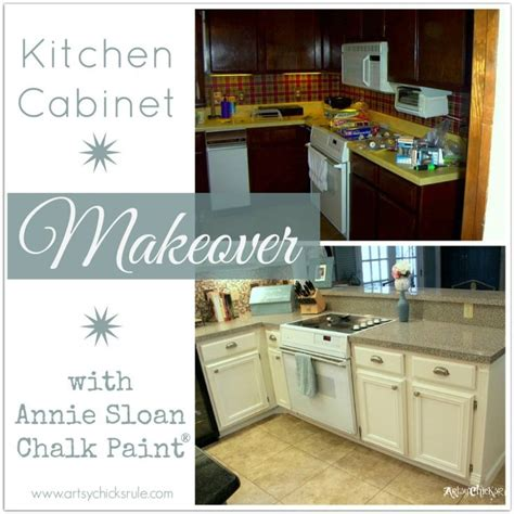chalk paint kitchen cabinets before and after kitchen cabinet makeover annie sloan chalk paint