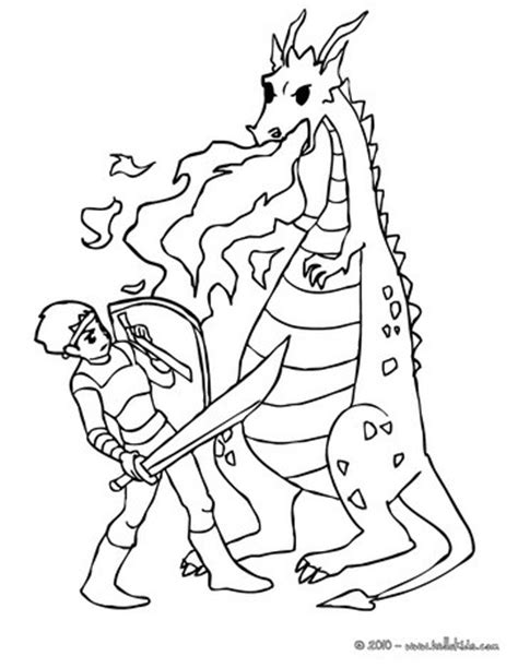 coloring pages of dragons and knights dragon against knight coloring pages hellokids com