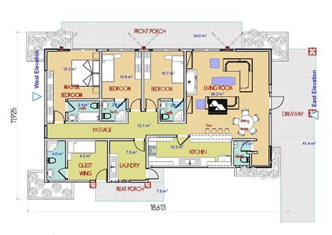 kenya design plan of 3 bedroom house floor plans joy mtomawe bungalow plan adroit architecture