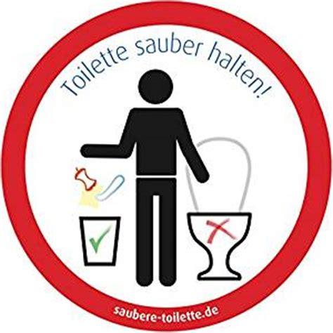 Aufkleber Toilettenordnung by 4x Toilette Sauber Halten Rund Kein M 252 Ll In Toilette