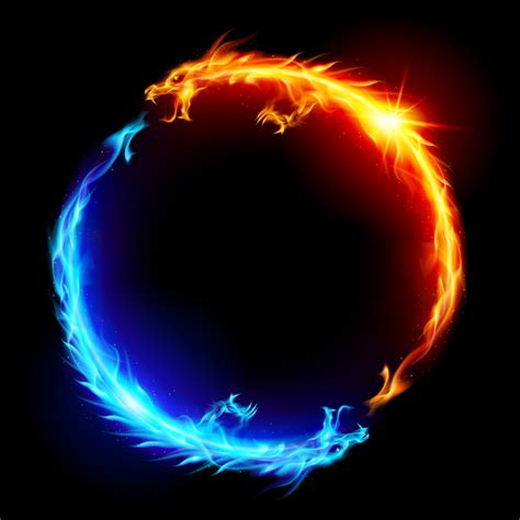 Blue and red fire dragons stephen josephs