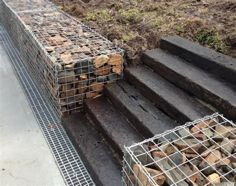 Sleeper Wall Design by Gabion Wall With Railway Sleepers Gabion1 Australia