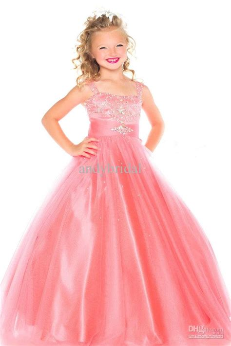 Dress Crown Kid delicate gown formal dresses for with