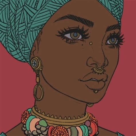 african beauty draw septum woman image 3235281 by