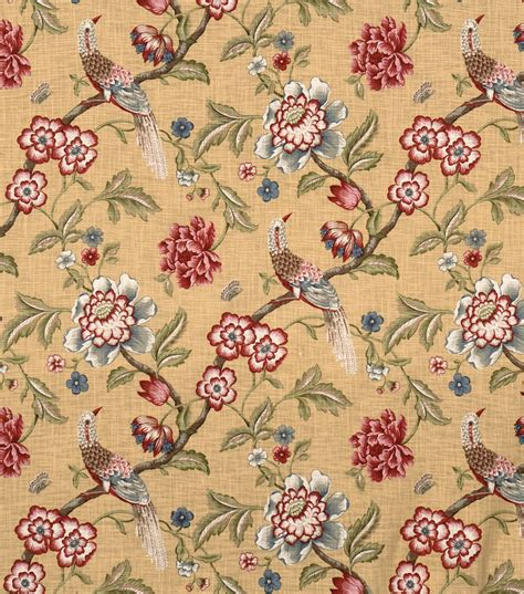 joann fabrics home decor home decor print fabric jaclyn smith france crimson jo ann
