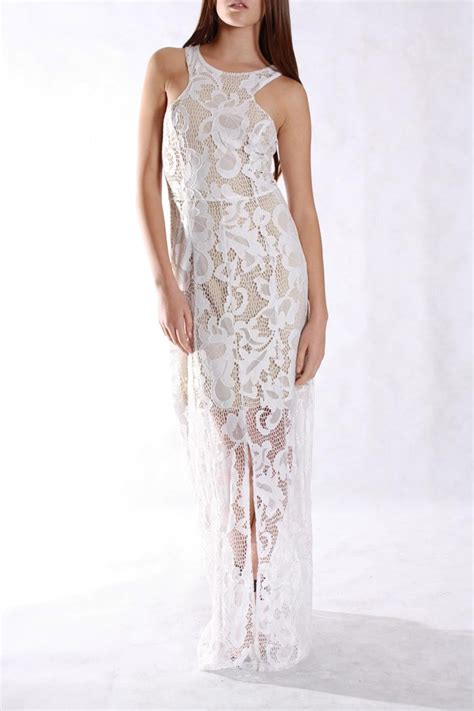 White Lace Dress white lace maxi dress dressed up