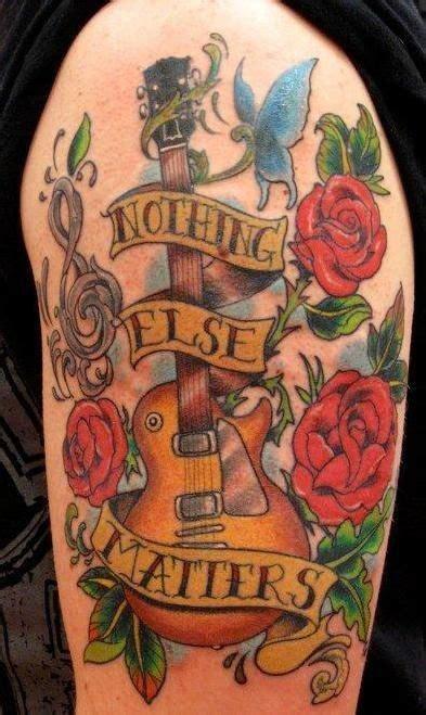 guitar with roses tattoo guitar roses חיפוש ב tattoos