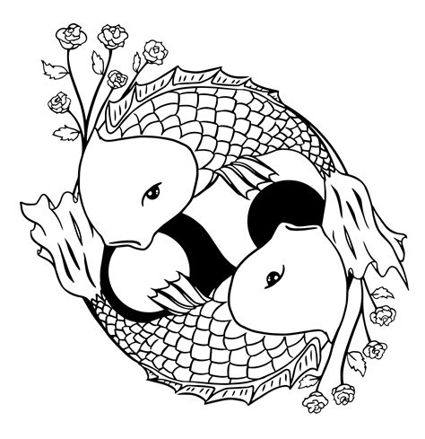 koi fish coloring pages koi fish coloring pages to and print for free