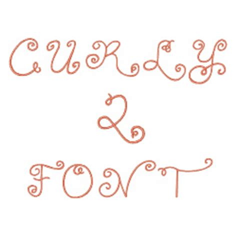 curly pattern font curly q font by embroidery patterns home format fonts on