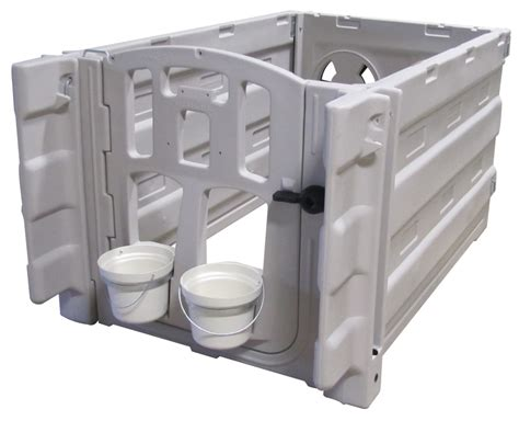 Agri Plastics Hutches drop in go indoor calf pen system calf hutch