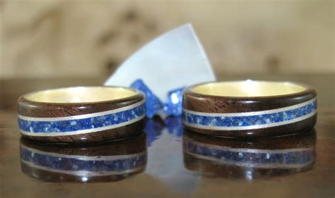 Crushed Inlay Rings   For the Love of Wood Rings