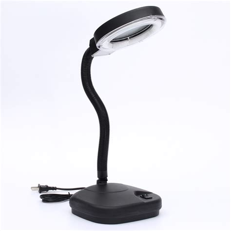 bench light with magnifying glass flexible reading table desk study light l with