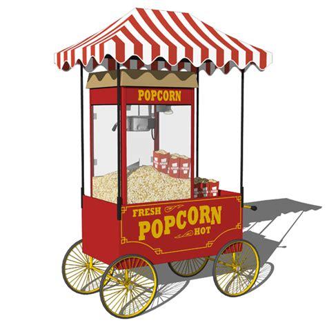 Outdoor Awning Lights Popcorn Machine Carts 3d Model Formfonts 3d Models