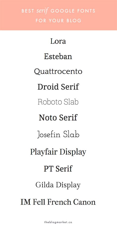 share font design zing blog best serif google web fonts for your blog the blog market