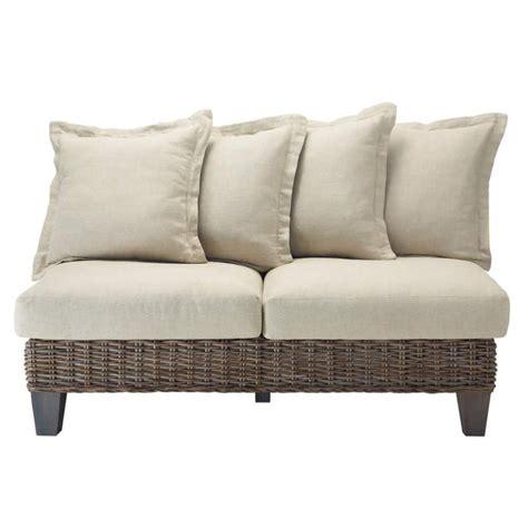 divanetto in rattan divanetto da giardino in rattan kubu chiaro 2 posti cap