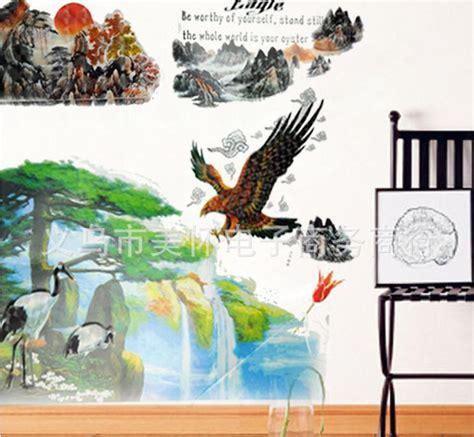 Wall Sticker 3d Xk0020 Stiker Dinding Timbul jual set stiker dekorasi dinding timbul 3d motif lukisan tiongkok elang ramayana grosir