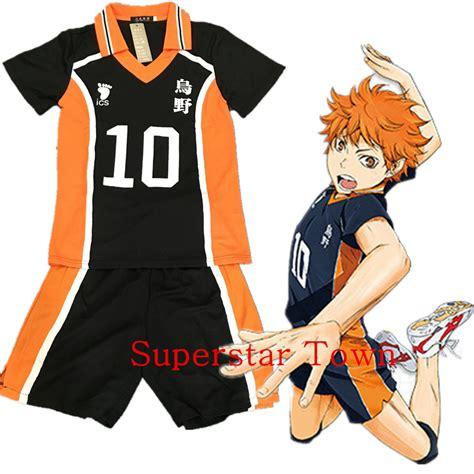 T Shirt Anime Haikyuu Karasuno Club aliexpress buy haikyuu karasuno hinata shyouyou high school jersey costume number