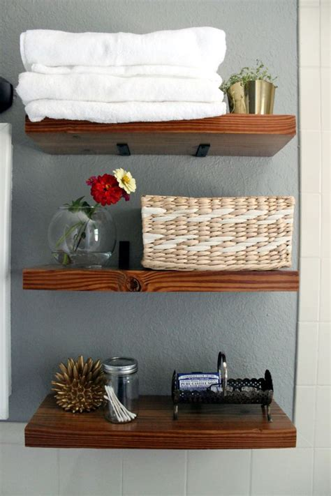 Diy Bathroom Shelves Diy Bathroom Shelves With L Brackets Dyi