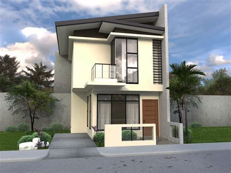 Small Double Storey House Plans Narrow Best House Design