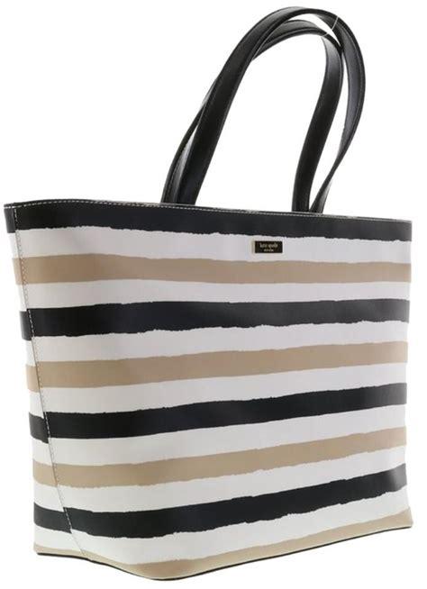 Katespade Jules Colorblock Large kate spade large grant grainy vinyl jules wkru2675 black beige tote bag on sale