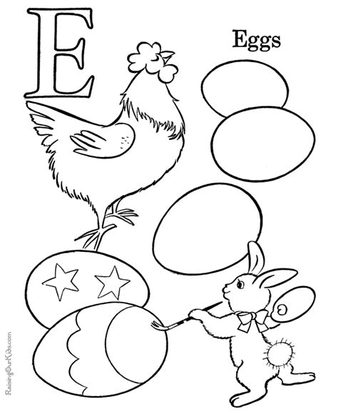 easter coloring pages for pre k alphabet pages to color letter e