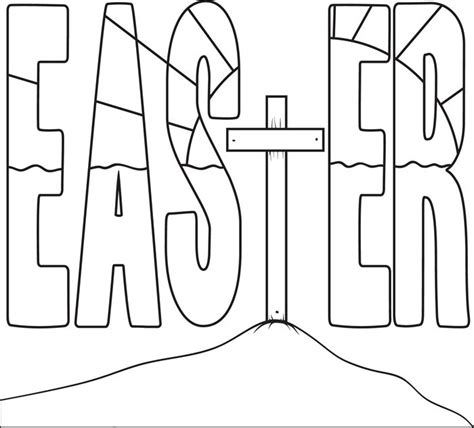 coloring pictures of easter cross easter cross coloring page coloring pages for