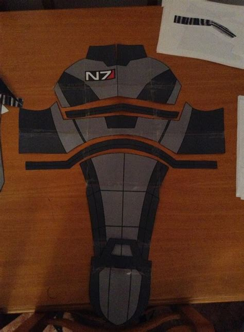 cardboard armor template gibcosplay mass effect n7 costume foam templates