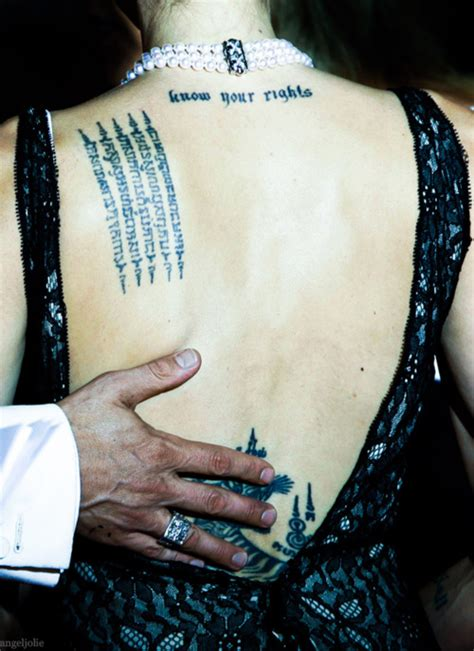 Angelina Jolie Yantra Tattoo Meaning | thai tattoo sak yant tattoo sak yant and yantra tattoo