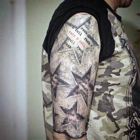 star sleeve tattoos for men 40 3d designs for cool ink ideas