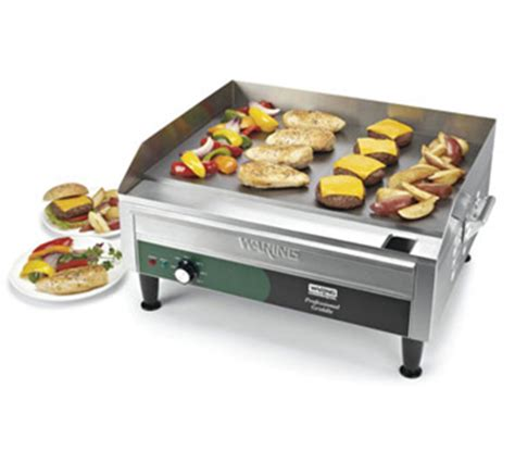 waring wgr240 countertop griddle w adjustable thermostat