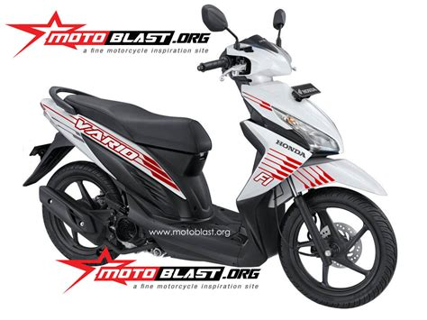 Stiker Motor Striping Motor Gl 125 modif striping honda vario 110 fi white motoblast