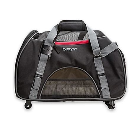 bergan comfort carrier large bergan 174 large wheeled comfort pet carrier in black www
