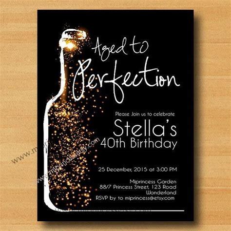 Wine Invitation Wine Birthday Invitation Aged To Perfection Glitter Birthday Invitation Aged To Perfection Invitation Template Free