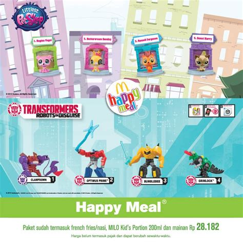 Mainan Macdonald Happy Meals mcdonalds promo happy meal harga spesial rp 28 182