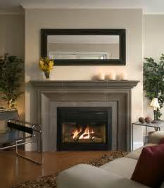 Concrete Fireplace Mantels Photo