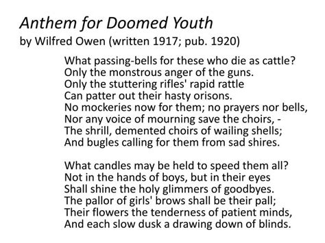 anthem for doomed youth best 28 anthem for a doomed youth anthem for doomed youth analysis anthem for doomed youth