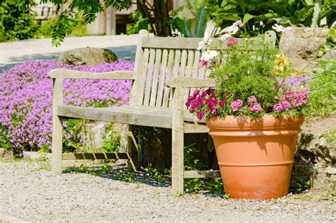 flower pot bench bench and flower pot stock photo image 56942048