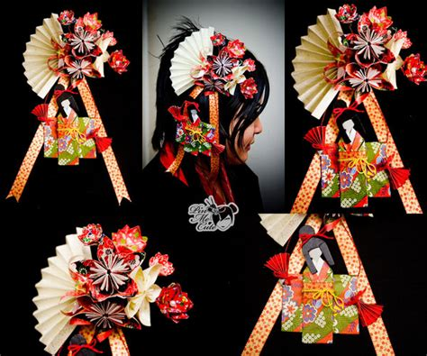 Origami Geisha - origami geisha hairpin by xxpo0k13x on deviantart