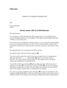 Offer Letter Of Employee Offer Of Employment Letter Crna Cover Letter