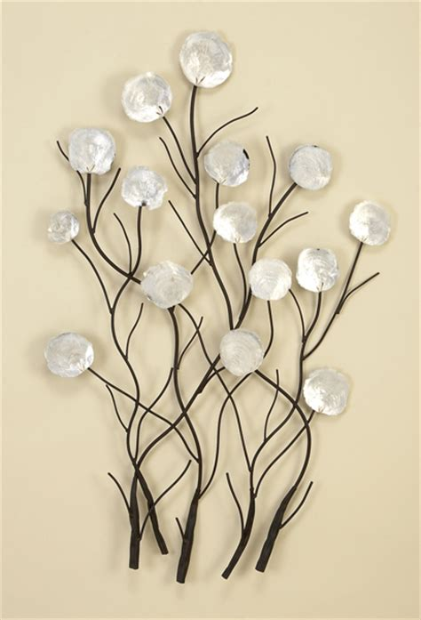 capiz shell wall decor modern capiz shell flowers floral metal wall