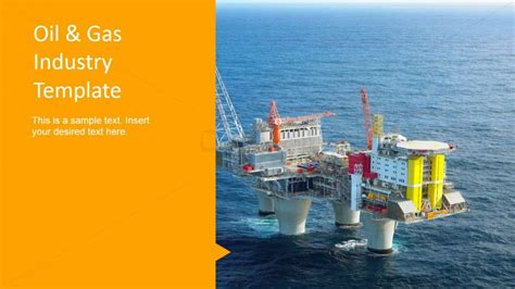 powerpoint themes oil and gas oil gas design platform photo background slidemodel