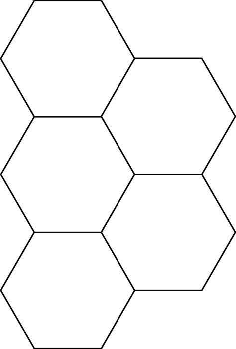 8 inch hexagon template hexagon pattern block template pictures to pin on