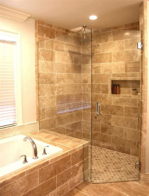 walnut bathroom ideas light walnut travertine with hidden curbless drain
