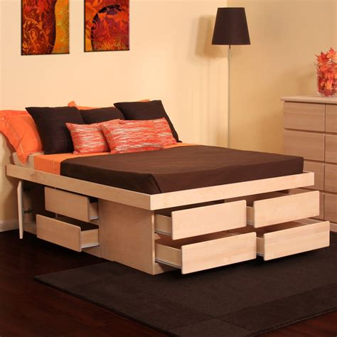 Platform Bed And Mattress Set Furniture Astounding Bed Frames With Storage Design Maleeq Decor Inspiring Home Interior