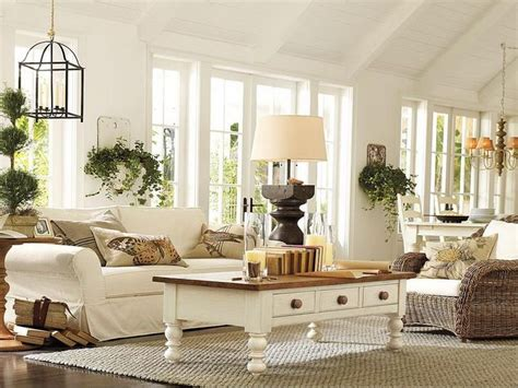 pottery barn home 27 comfy farmhouse living room designs to steal digsdigs