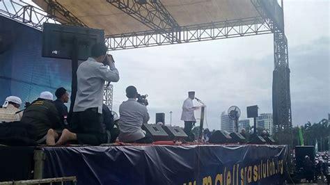 Koko Majelis 7 kenakan baju koko jenderal gatot nurmantyo hadiri perayaan maulid nabi di monas okezone news