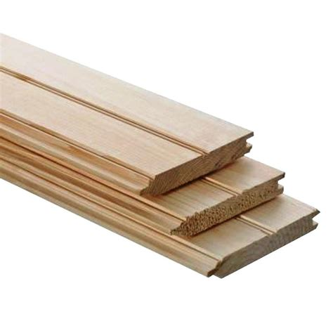 Tongue And Groove Ceiling Boards 1 In X 4 In X 8 Ft Beaded Tongue And Groove Board