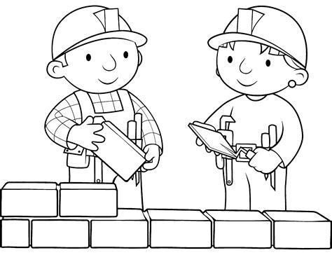 Build A Coloring Pages bob the builder coloring pages free printable coloring pages