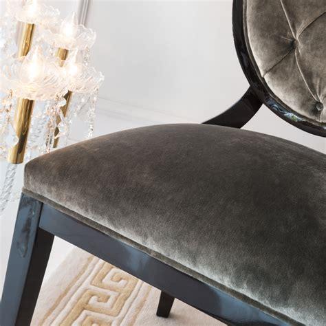 grey velvet bedroom chair luxury grey velvet upholstered dining chair juliettes interiors
